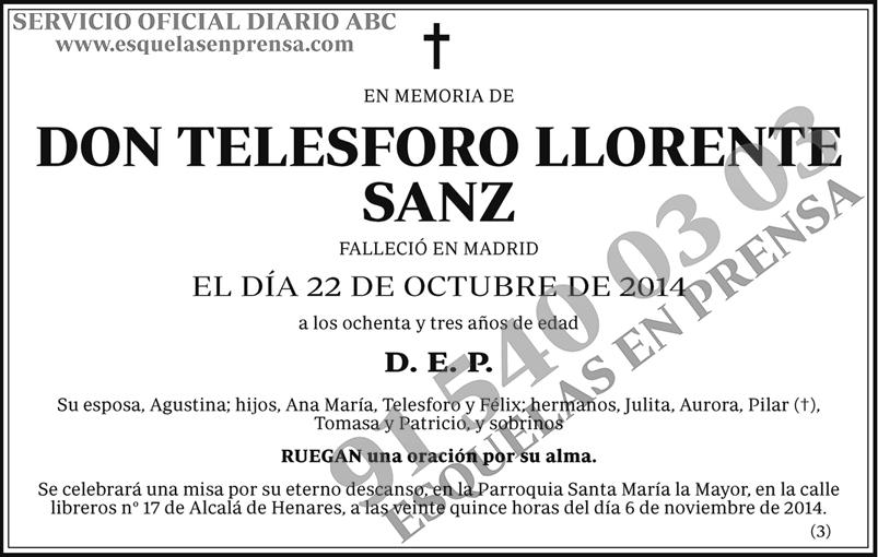 Telesforo Llorente Sanz